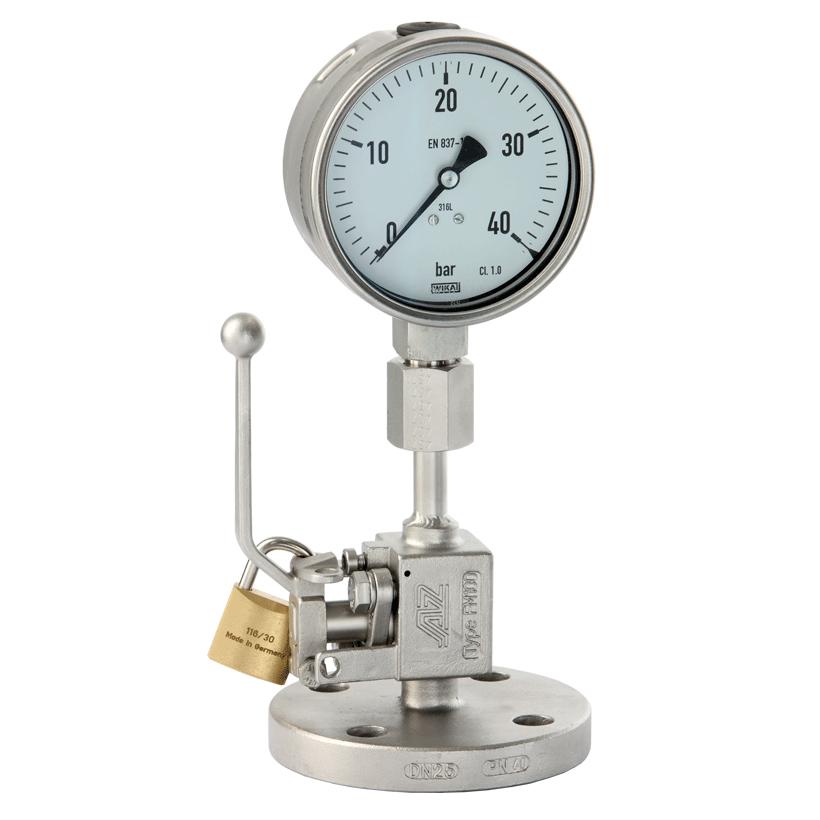 Manometer plug valve