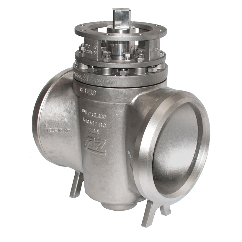 Plug valves with weld ends