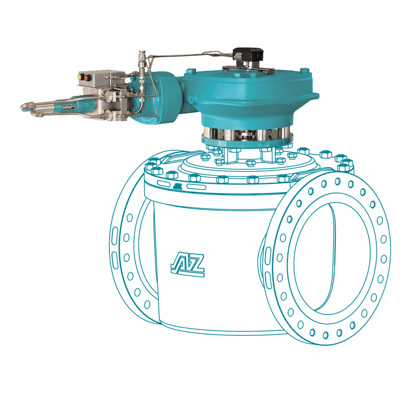 Alternative rotary actuator 90° 180° 270° 360° for all valves with high torques