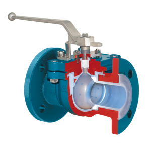 ball valve full bore with one piece body