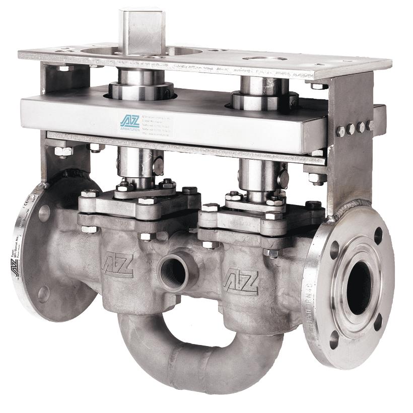 Double valve combination