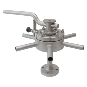 7 way plug valve with hand switch TYPE MULTIWAY