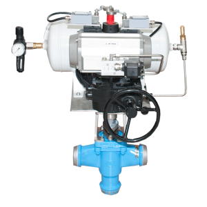 BW plug valve with reserve air tank for actuator TYPE RESERVE AIR