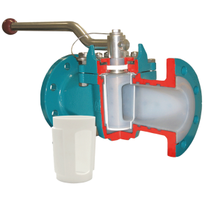 lined plug valve with replaceable PTFE sleeve