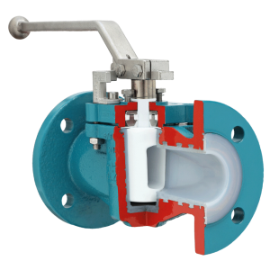 lined plug valve with chemical seal