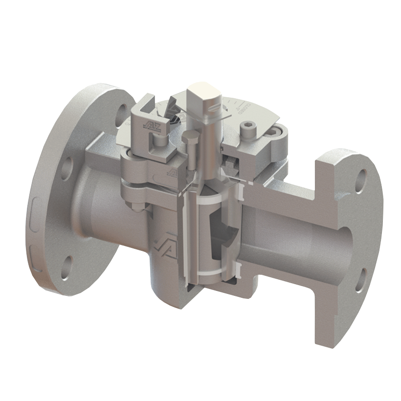 Control valve with protection inset